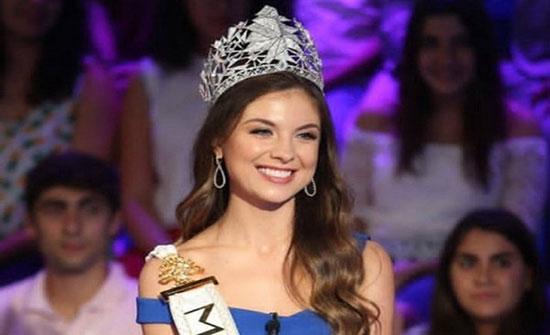 صور : ملكة جمال لبنان مايا رعيدي تثير الجدل.. بفستان أسود مثير وشفاف