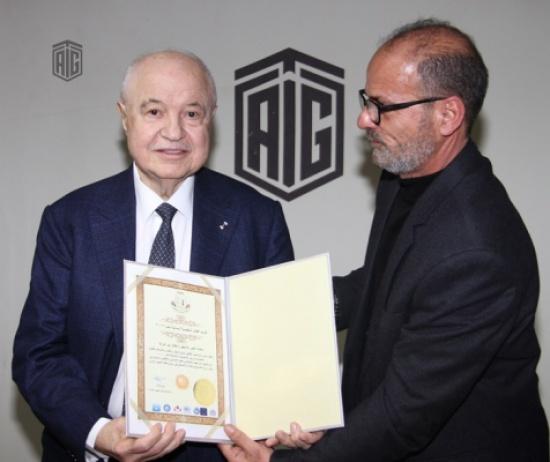 تكريم أبوغزاله كأفضل شخصية إنسانية لعام 2017
