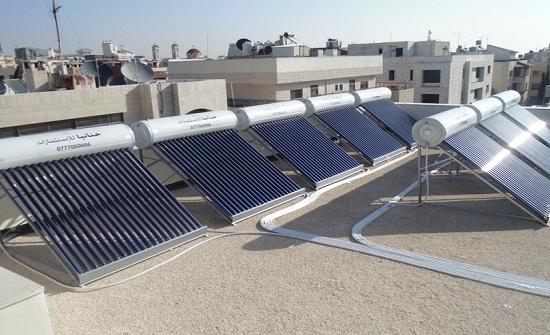 تركيب 40 وحدة خلايا شمسية و100سخان شمسي في المفرق