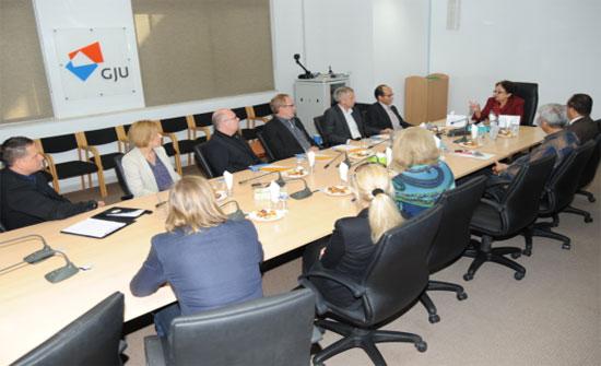 زيارة وفد ألماني للجامعة الألمانية الأردنية