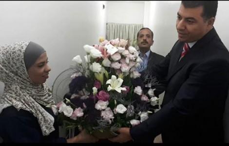 بالفيديو.. وزير الزراعة يعتذر لإحدى العاملات في الوزارة