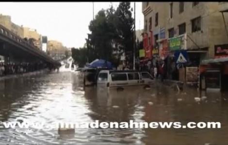 بالفيديو : كيف غرق دوار صويلح بالمياه ؟