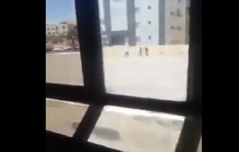 بالفيديو : شاهدوا لحظة اطلاق النار على شاب في الجامعة الأردنية