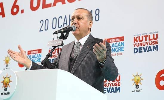 أردوغان: عملية عفرين بدأت فعلياً على الأرض وستتبعها منبج