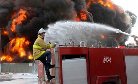 اخماد حريق اندلع في مستودع أثاث في عمان
