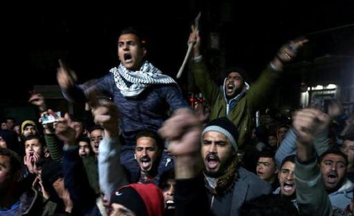 مسيرات غاضبة في غزة تندد بقرار نقل السفارة الأمريكية للقدس