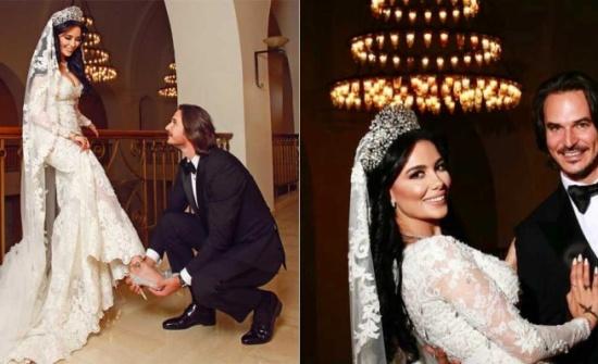 شيماء هلالي تنشر صورة جديدة من زفافها بمناسبة عيد الحب