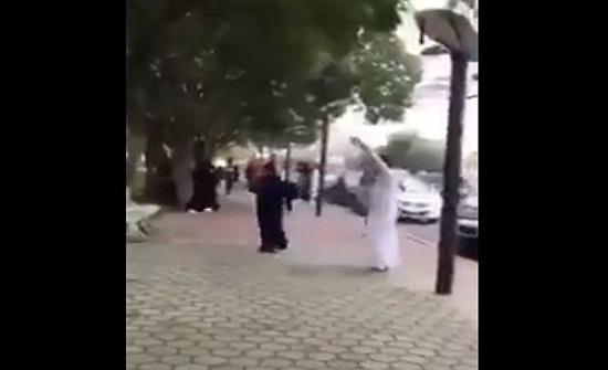 بالفيديو- شاب وفتاة يرقصان امام الملأ في أحد شوارع السعودية!