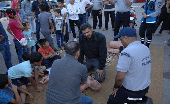 بالصور : الدفاع المدني يُنظم مبادرة (صحتك بتهمنا) في حدائق الحسين والمدرج الروماني