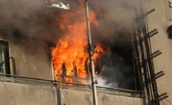 وفاة أب وطفلة واصابة ثلاث أفراد من عائلته في حريق منزل