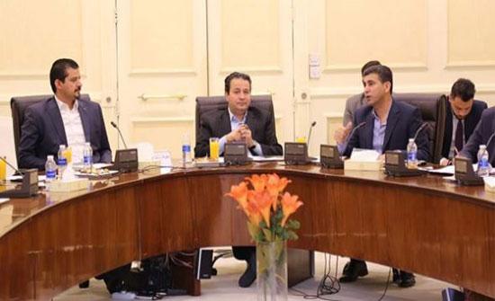 وزير الشباب يلتقي رؤساء أندية جرش