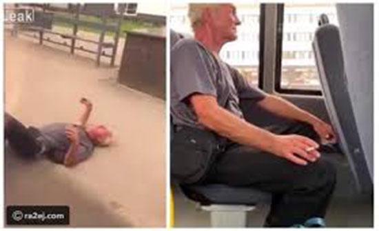 فيديو : لقطات صادمة لسحل مسن وطرده من حافلة بسبب التدخين