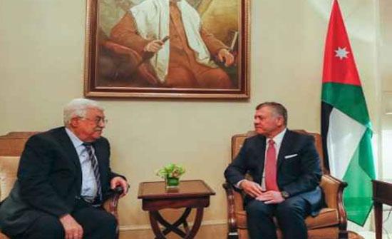 الملك يجري مباحثات مع الرئيس الفلسطيني