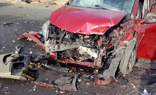 بالصور : 4 اصابات بالغة في حادث تصادم مروع في شارع الأردن
