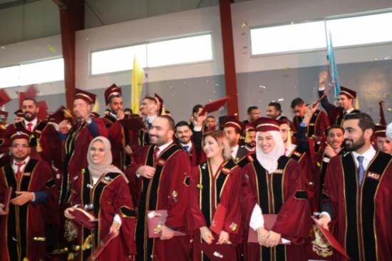 تحديد موعد حفل التخريج في جامعة الشرق الأوسط