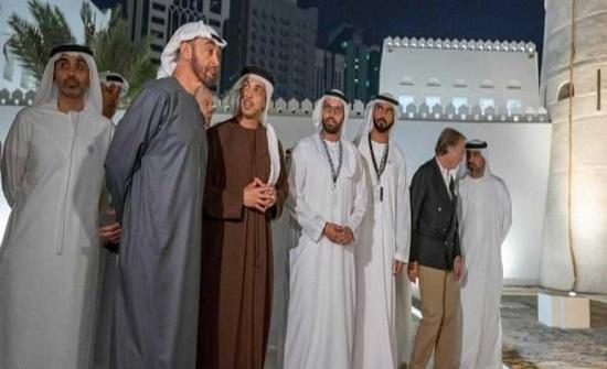 """محمد بن زايد يفتتح """"منطقة الحصن"""" التاريخية"""