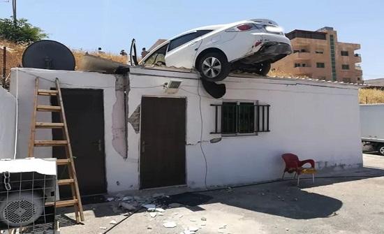 """بالصور :  حادث سير """" غريب """"  في عمان"""