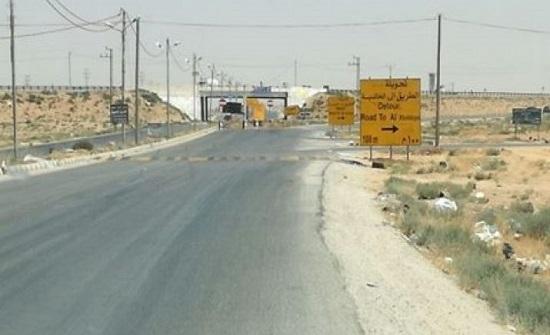 الاشغال: الانتهاء من إعادة توسعة طريق المفرق الخالدية مطلع ايلول