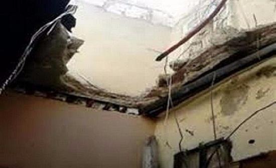 سقوط أسقف ثلاثة منازل في المشارع