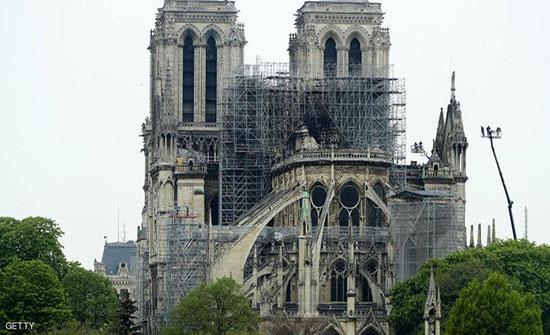 ماكرون يكشف موعد انتهاء أعمال الترميم في كاتدرائية نوتردام