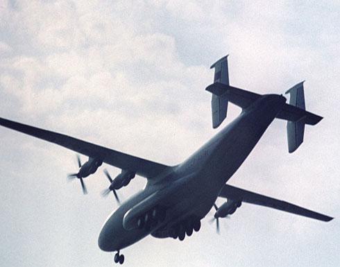 أكبر طائرة في العالم تحمل شيئا مجهولا إلى سوريا