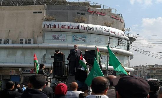 وقفة للحركة الإسلامية بحي نزال تضامنا مع مرابطي القدس