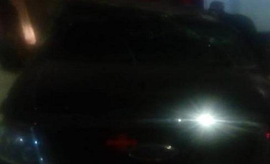 بالصور : اصابة في تدهور مركبة بالسلط