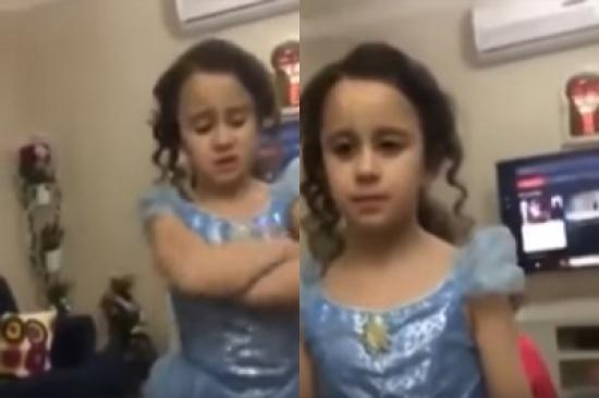 فيديو طريف.. طفلة سورية لوالدتها : أنا بتربى بالحب مو بالخناق