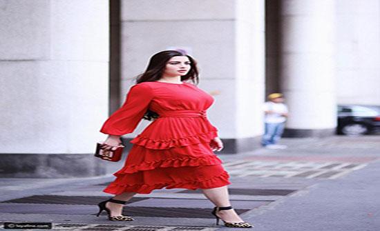 بالصور : استوحي إطلالة عيد الحب 2019 من أزياء روان بن حسين بالأحمر