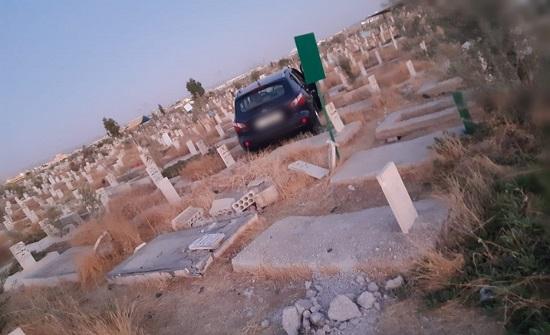 بالصور.. 7 إصابات في حادث تصادم بمقبرة سحاب