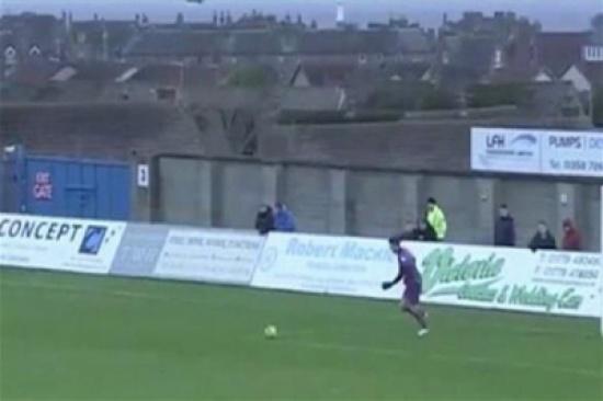 شاهد.. حارس مرمى يصطاد طائر نورس خلال مبارة كرة قدم