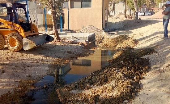 وزارة المياه : تخريب مقصود في محطة تنقية الكرك يؤدي لفيضان مياه عادمة