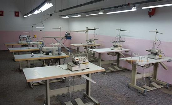 افتتاح مشغل خياطة فى شهابية الكرك