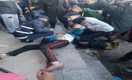 انفجار اسطوانة في نادي رياضي بالزرقاء (صور)