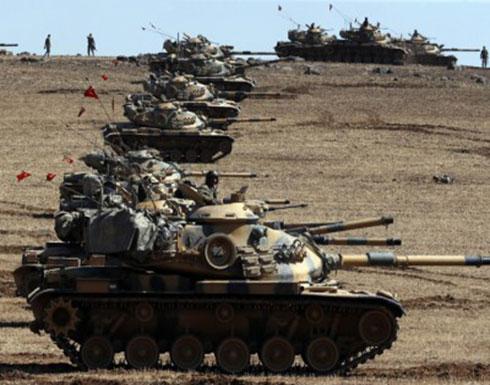 """القوات البرية التركية تتقدم 5 كلم في مناطق يحتلها """"ب ي د"""" بعفرين"""