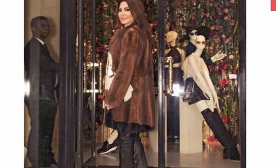 صورة| لن تصدقوا كم يبلغ ثمن معطف إليسا الفرو !