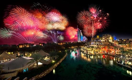 شاهدوا .. احتفالات  دبي في رأس السنة