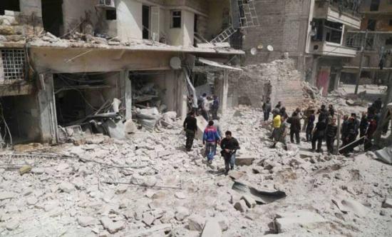 اتهامات للنظام بقصف وادي بردى بالنابالم الحارقة