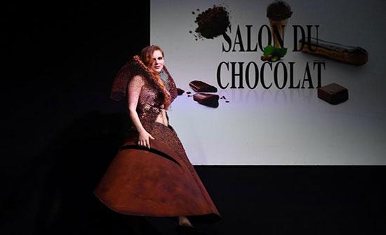 """بالصور: عرض أزياء بنكهة """"الشوكولاتة"""" في بلجيكا"""