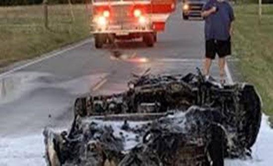 امريكا : لحظة اشتعال النيران في سيارة شيفروليه(فيديو) - المدينة نيوز