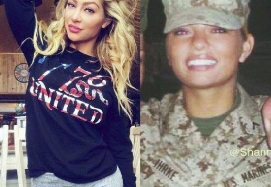 بالصور: أمريكية تترك الخدمة بالجيش لتصبح عارضة أزياء مثيرة!