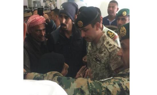 """فيديو : ولي العهد يزور مستشفى """" هاشم العسكري"""""""