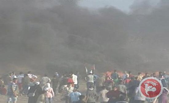 شهيد في غزة والشبان يواصلون الاحتجاجات على الحدود