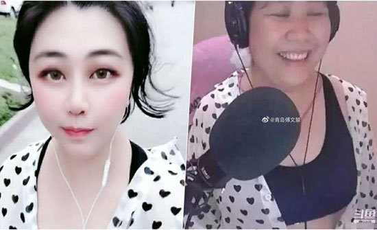 شاهد: خلل في البث يكشف حقيقة مدونة فيديو صينية خدعت جمهورها بالفلتر