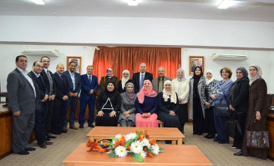 قسم التمريض في جامعة إربد الأهلية يعقد ورشة عمل لمراجعة الخطة الدراسية