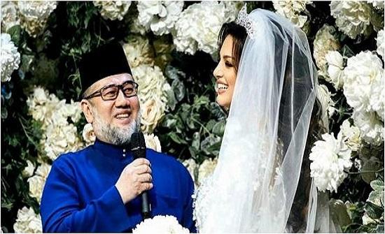 ملك ماليزيا السابق يشكك في نسب ابنه من ملكة الجمال الروسية