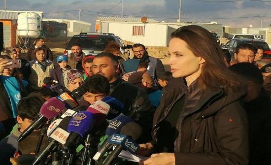 أنجلينا جولي : ممتنون للأردن وموقفه الانساني تجاه ضحايا النزاع