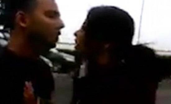 زوجة تنقض على زوجها وعشيقته بعد «قفشهم» في فندق..