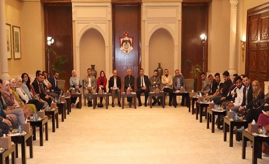 رئيس الديوان الملكي يلتقي عددا من شباب محافظة الكرك