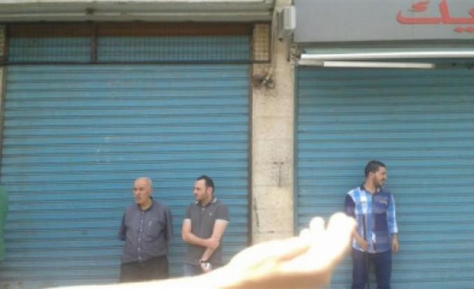 بالصور / عمان : تجار يغلقون محلاتهم في وسط البلد احتجاجاً